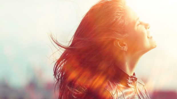 girl, happy,