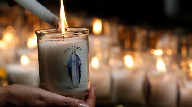 Bougie Vierge Marie
