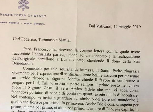 letter, pope francis,