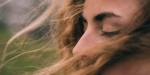woman curly hair