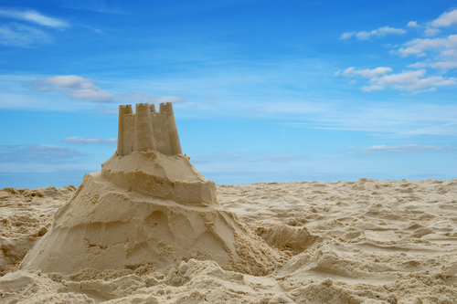 SAND, CASTLE, BEACH