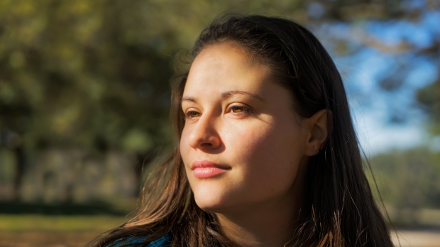young woman sunlight