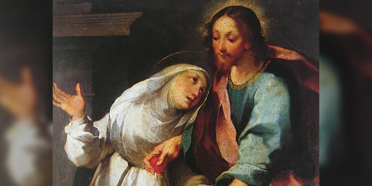 SAINT CATHERINE OF SIENA AND JESUS