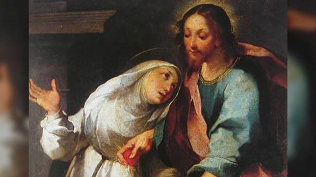 SAINT CATHERINE OF SIENA AND JESUS
