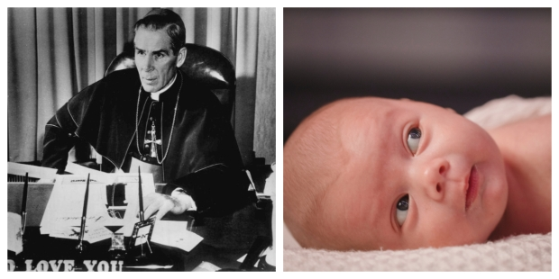 FULTON SHEEN, NEWBORN, COLLAGE