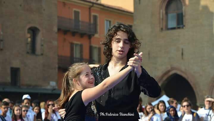 Francesca insieme al ballerina