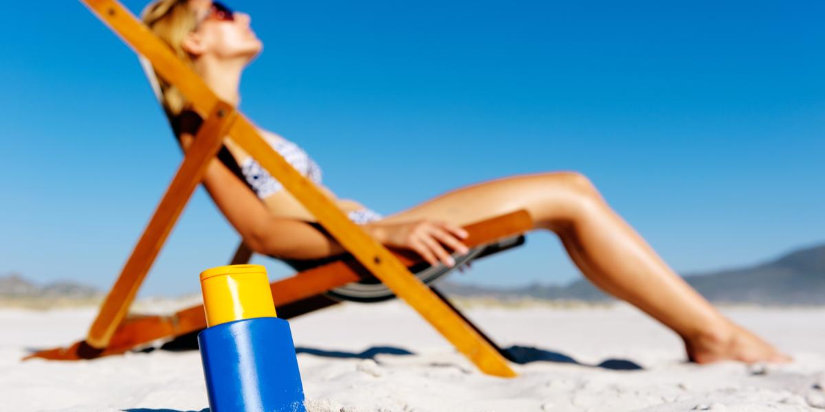 WOMAN, SUN, BEACH