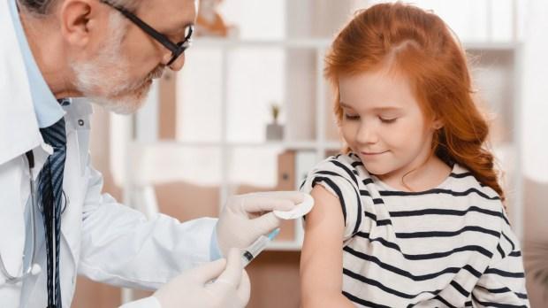 doctor little girl injection