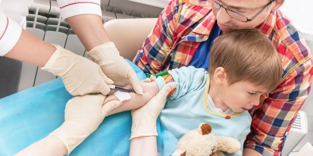 kid test of blood