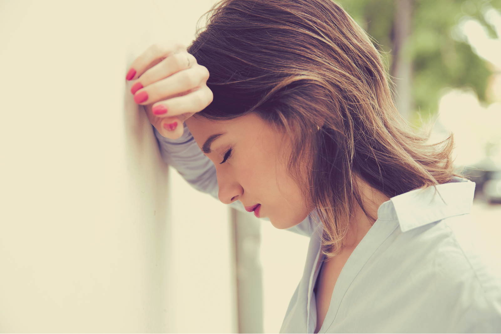 stressed sad woman