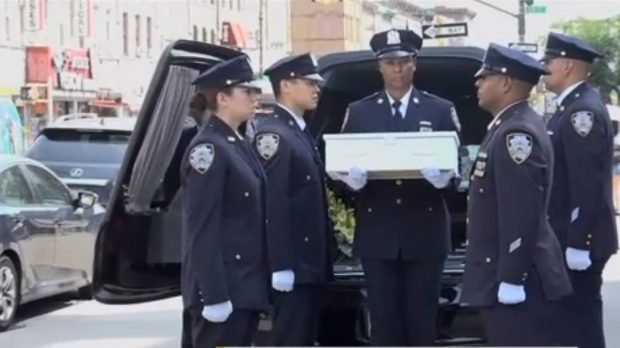 FUNERAL, NY POLICE, FETUS
