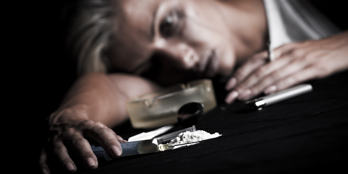 a young addict woman