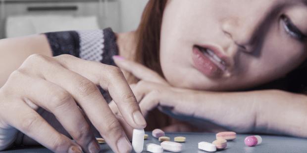 female drug addict