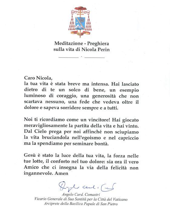 PREGHIERA NICOLA PERIN