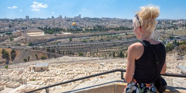 GIRL, JERUSALEM, SKYLINE