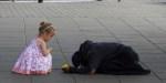 little girl gives money homeless