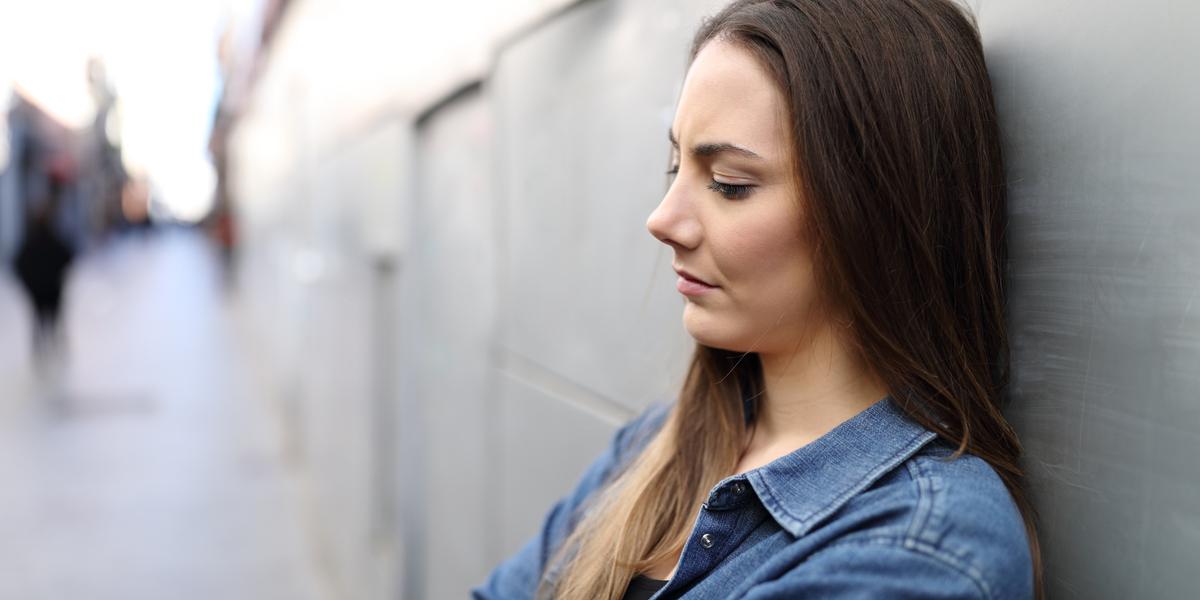 sad girl in the street