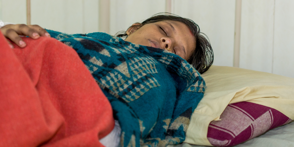 WOMAN, HOSPITAL, INDIA