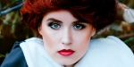 GIRL, RED LIPS, BEAUTY