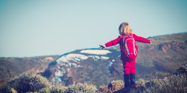 GIRL, MOUNTAIN, WALK