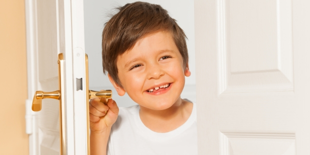 BOY, SMILE, DOOR