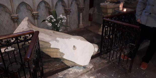 Virgin Mary vandalised