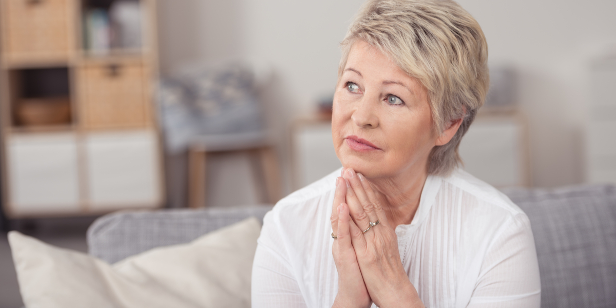 Old person - Pray - Thinking - Grand mother