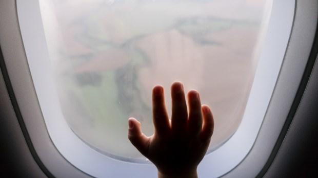 PLANE, CHILD, HAND