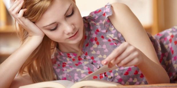 GIRL, READING, BOOK