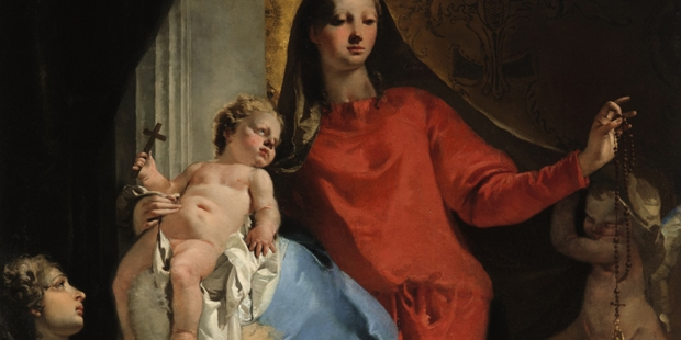 TIEOPOLO; MADONNA AND ROSARY