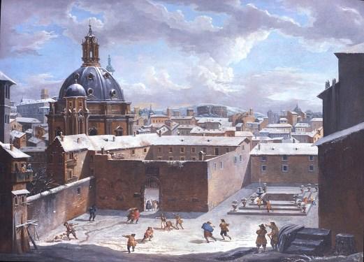 Rome under the snow