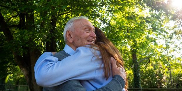 HUG GRANDFATHER