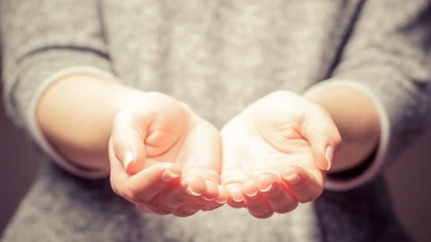 HANDS, WOMAN, OFFER