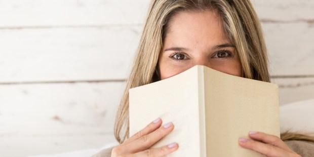 BLONDE, GIRL, BOOK