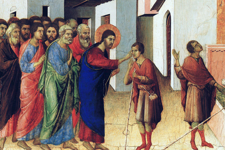 DUBBIO PAINTING JESUS BLIND SINCE BORN PAINTING
