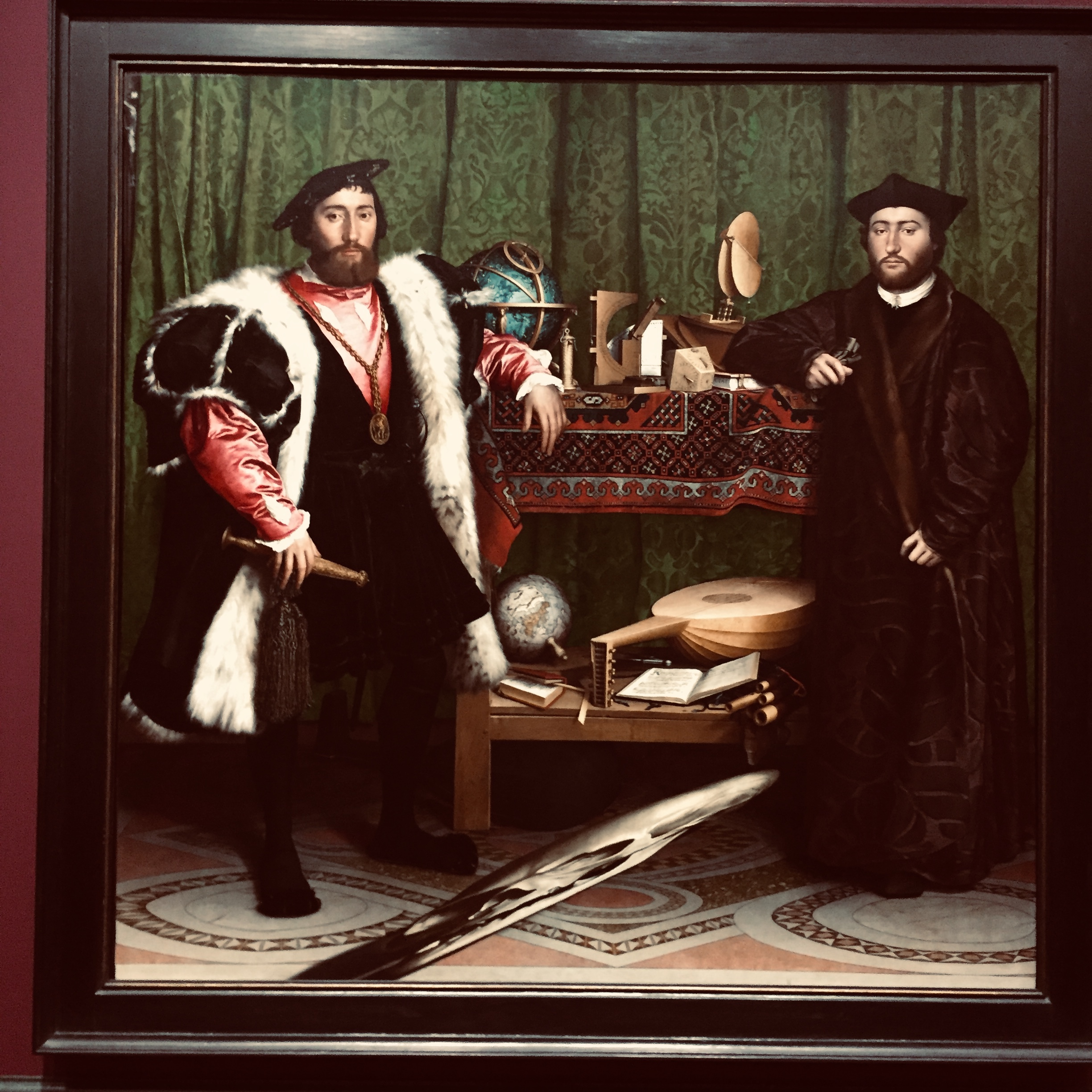 HANS HOLBEIN; THE AMBASSADORS