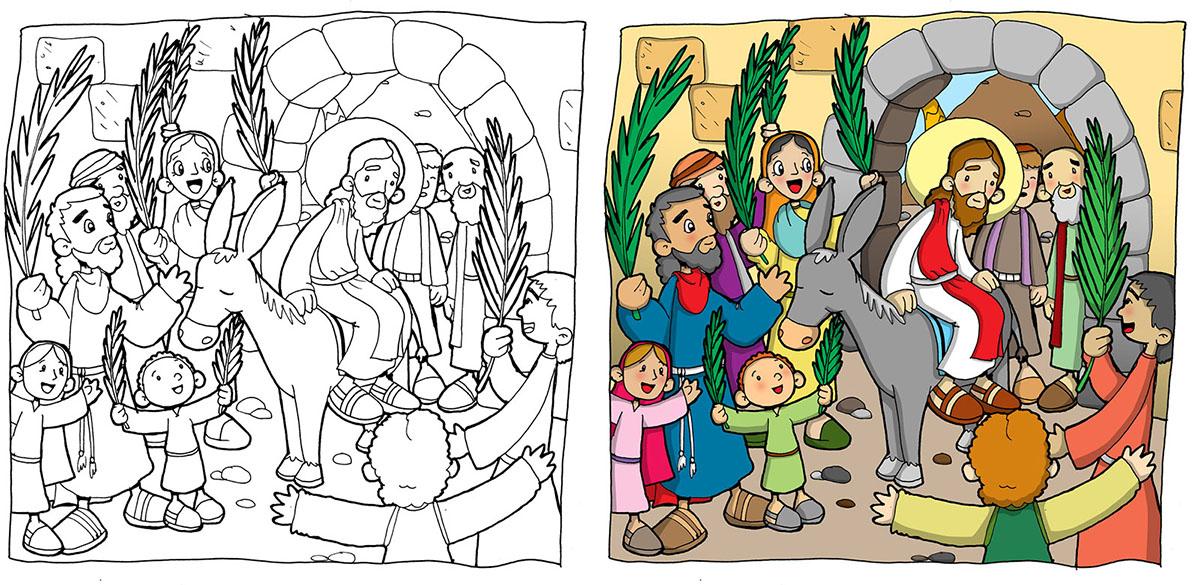 Settimana Santa In Casa Un Disegno Da Colorare Per La Domenica Delle Palme