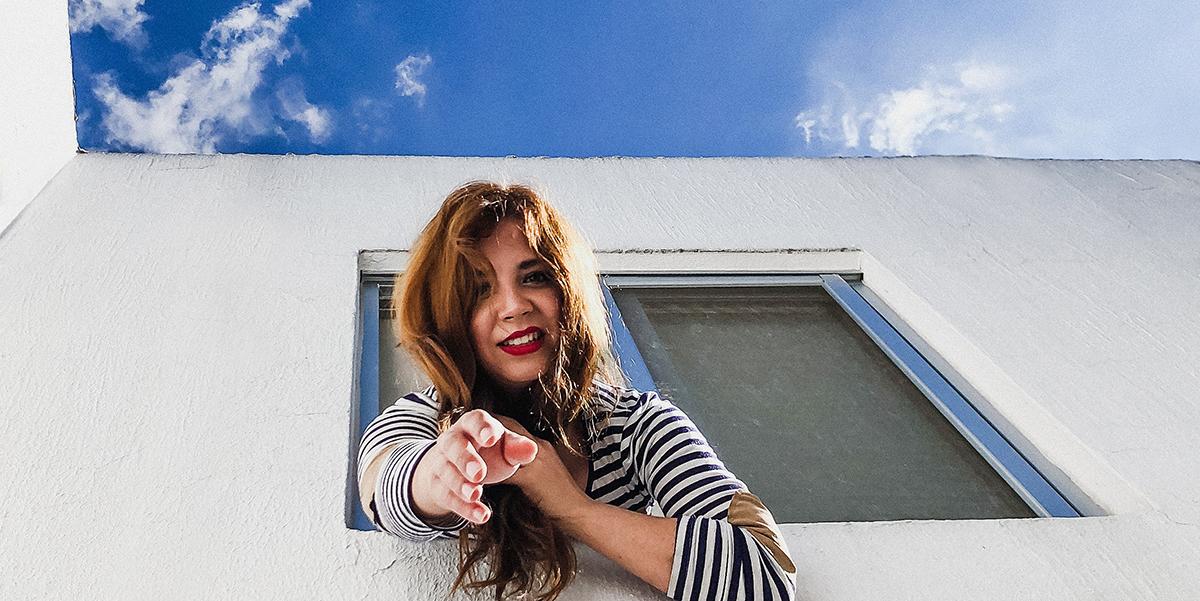 WOMAN, HAND, WINDOW