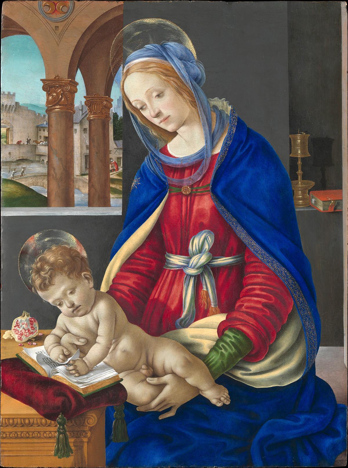 Filippino Lippi's Madonna and The Child (1483-1484)