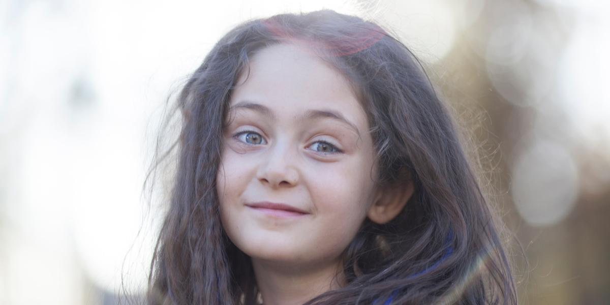 LITTLE GIRL, LONG HAIR,