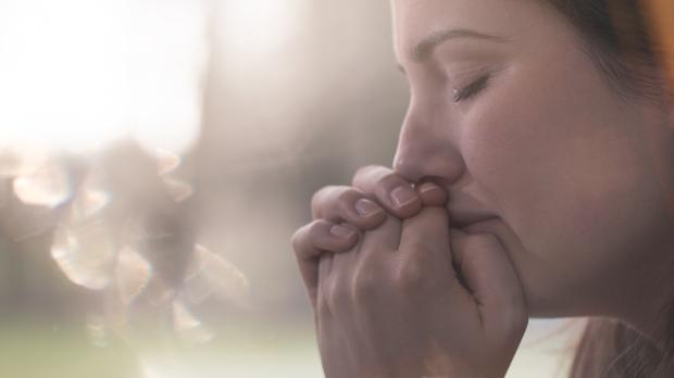 WOMAN, CRYING, SUN