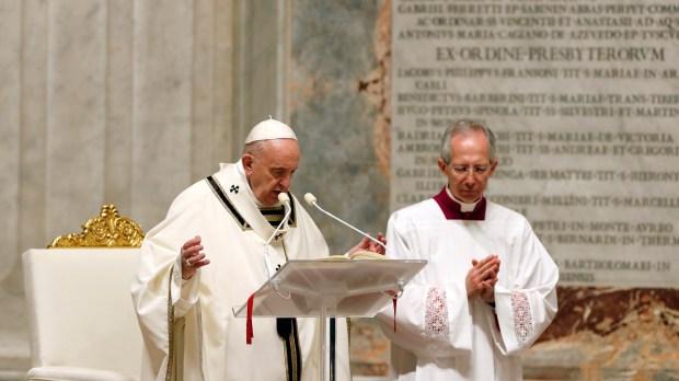 POPE EASTER VIGIL MASS