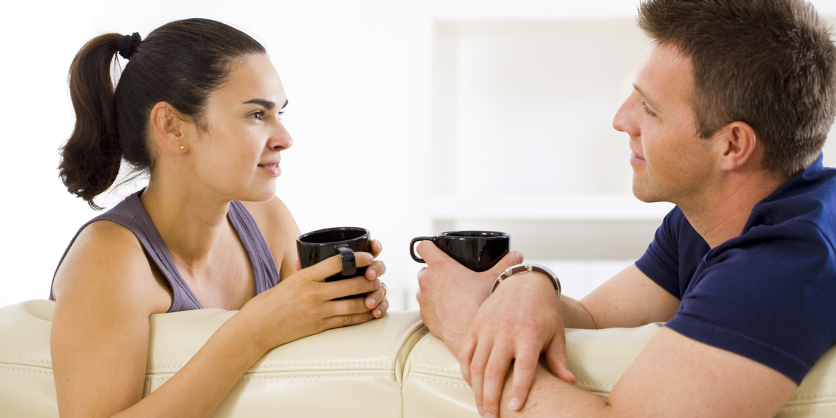 COUPLE, COFFEE, SOFA