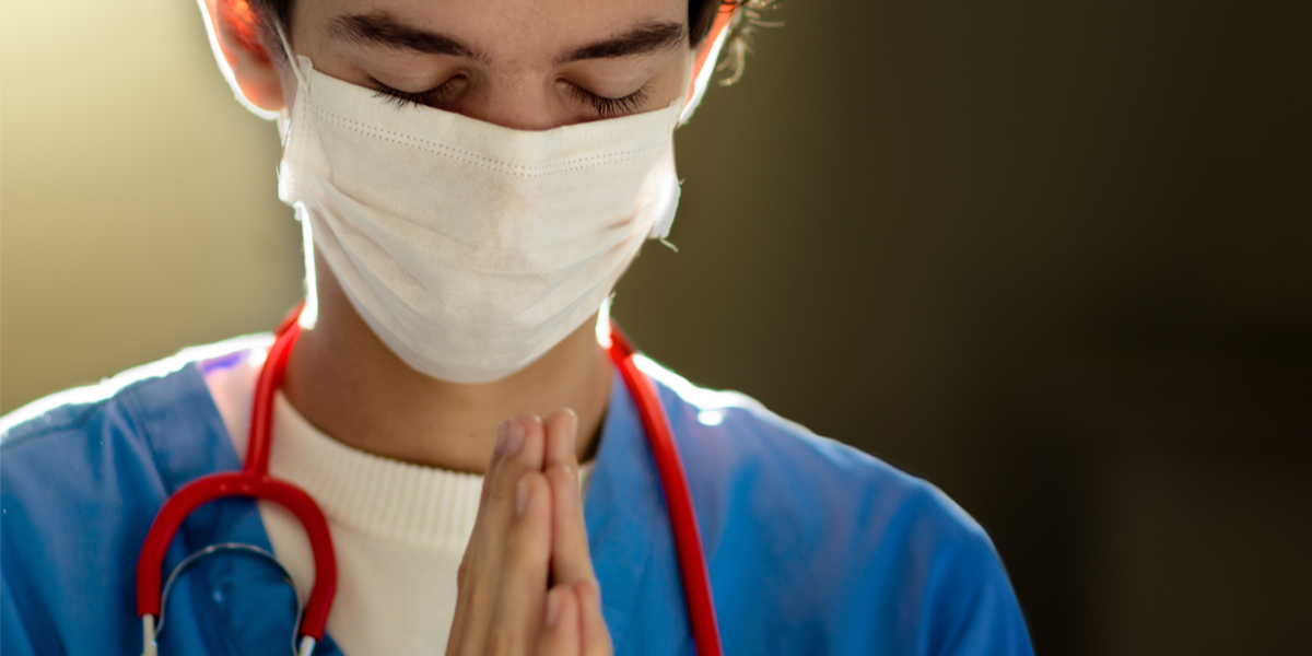 DOCTOR, MASK, PRAYING,