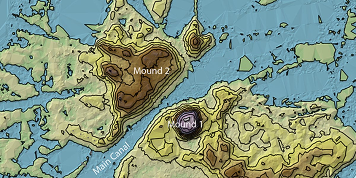 San Antón de Carlos MOUND KEY MAP
