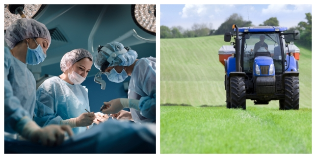 HOSPITAL, TRUCK, COLLAGE