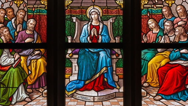 MARY AND APOSTLES