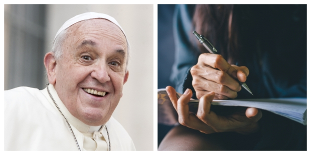 POPE FRANCIS, WRITING, COLLAGE