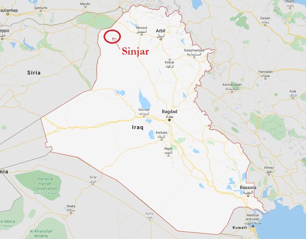IRAQ, SINJAR, MAP