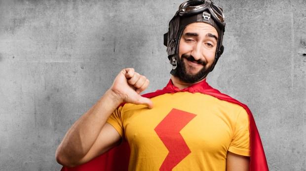 crazy superhero